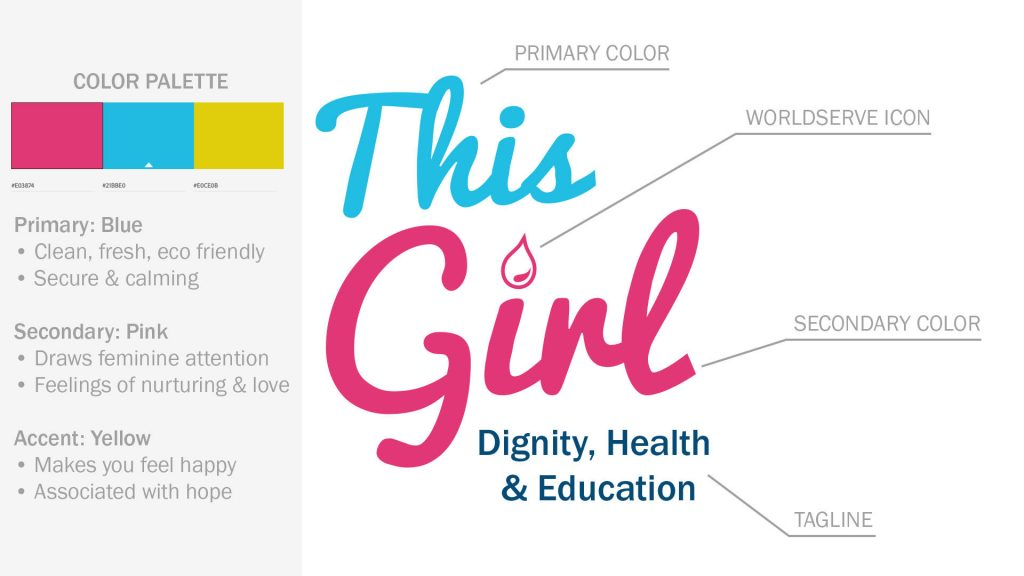 THIS GIRL logo and brand colors defined